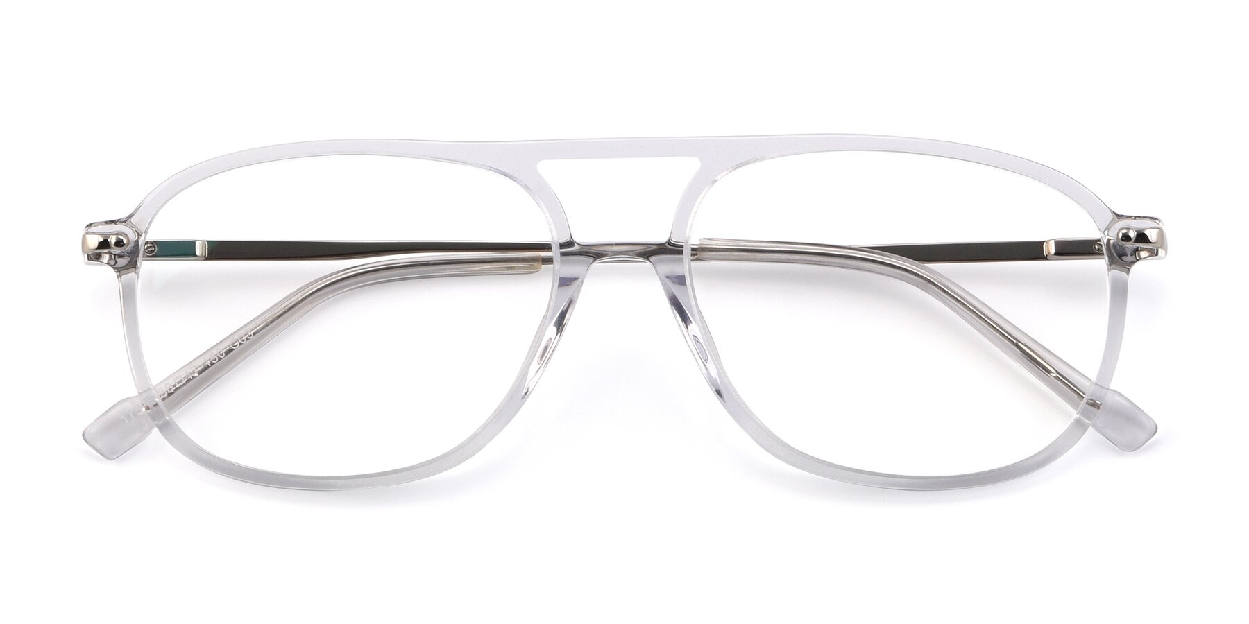 Folded Front of 17580 in Clear with Clear Eyeglass Lenses