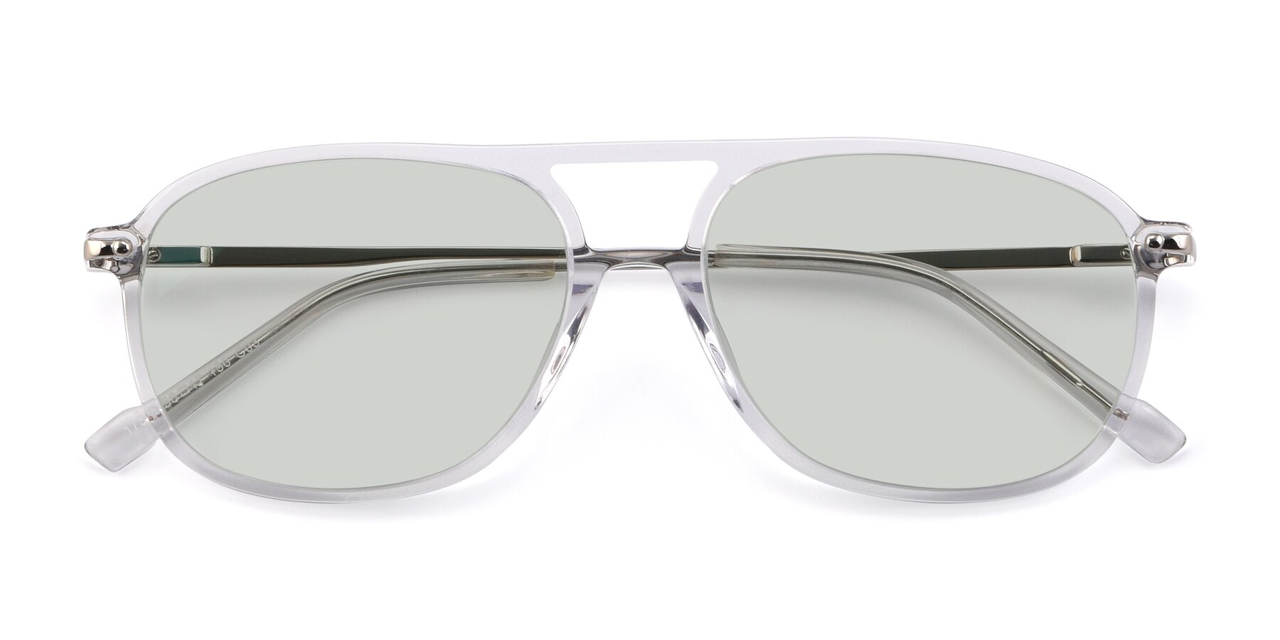 Folded Front of 17580 in Clear with Light Green Tinted Lenses