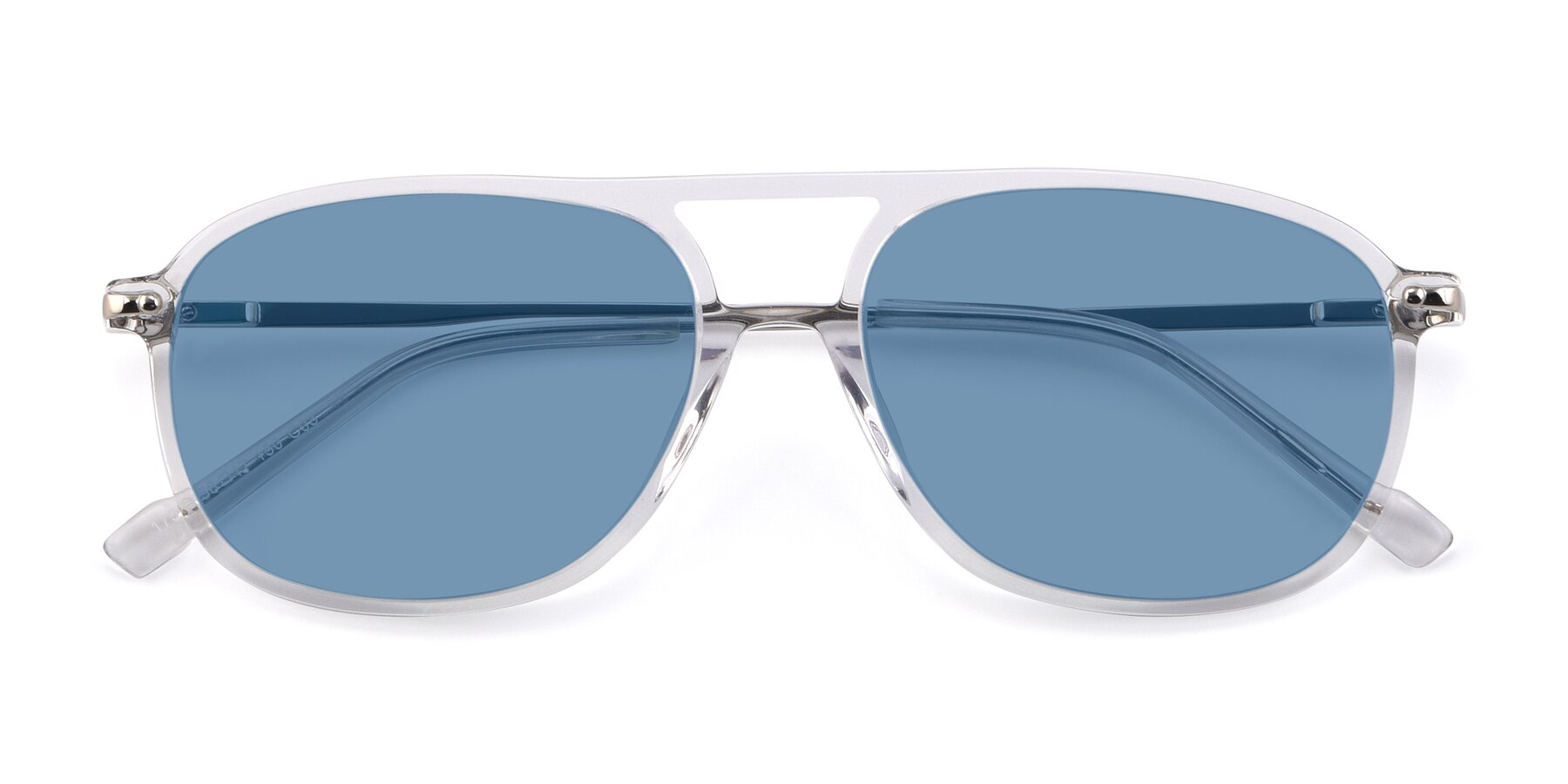 Folded Front of 17580 in Clear with Medium Blue Tinted Lenses