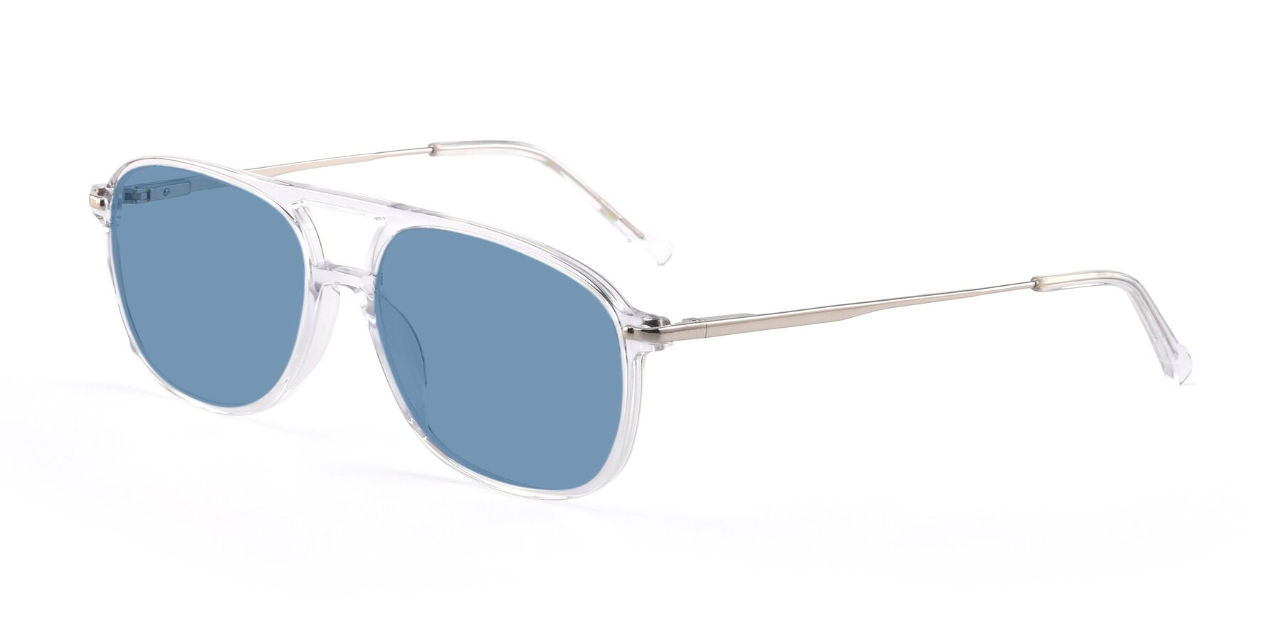 Angle of 17580 in Clear with Medium Blue Tinted Lenses