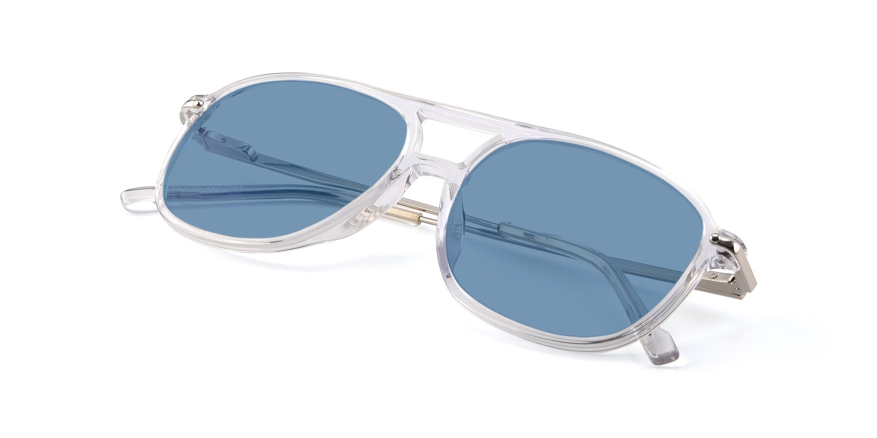 View of 17580 in Clear with Medium Blue Tinted Lenses