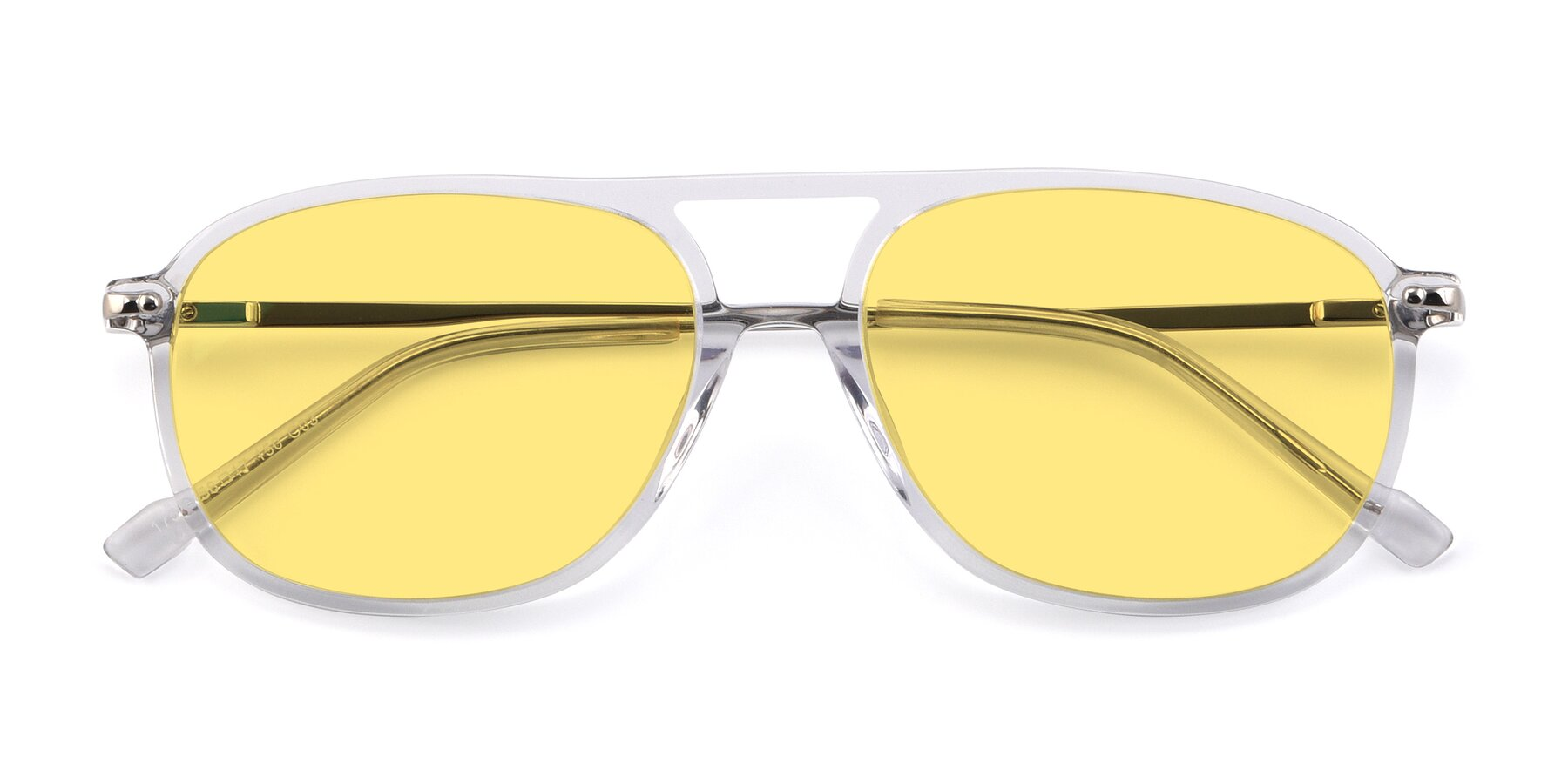 Folded Front of 17580 in Clear with Medium Yellow Tinted Lenses