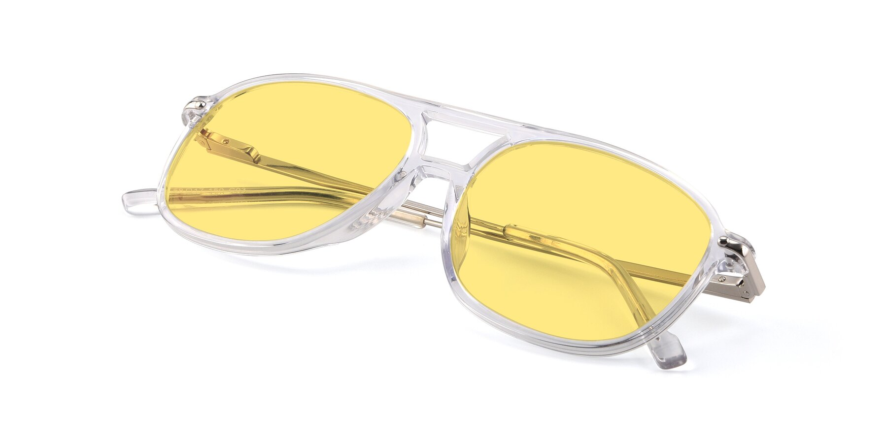 View of 17580 in Clear with Medium Yellow Tinted Lenses