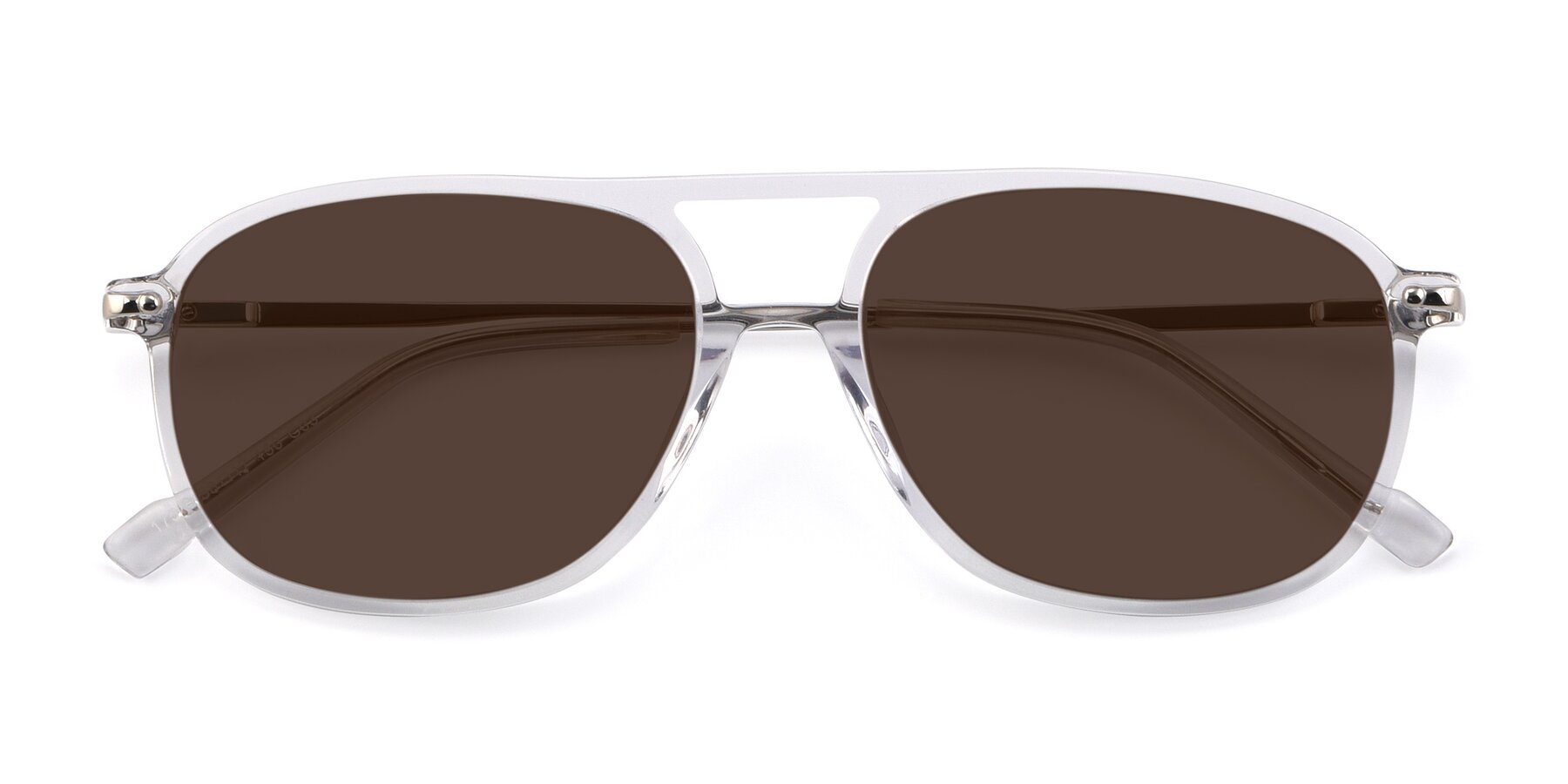 Folded Front of 17580 in Clear with Brown Tinted Lenses