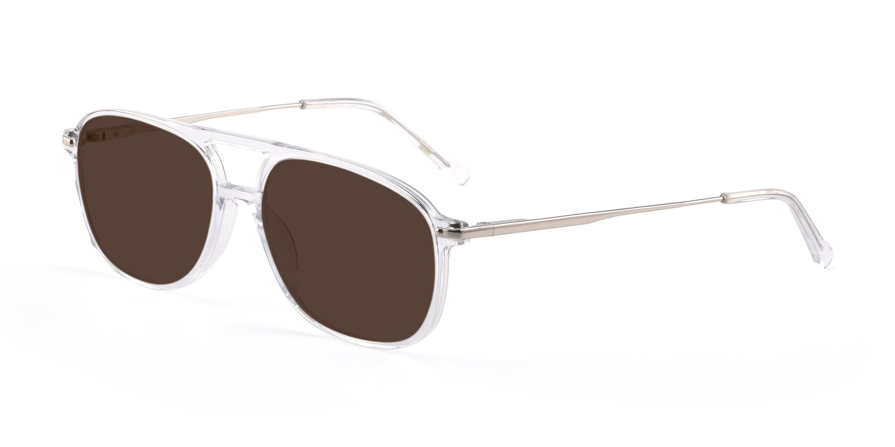 Angle of 17580 in Clear with Brown Tinted Lenses