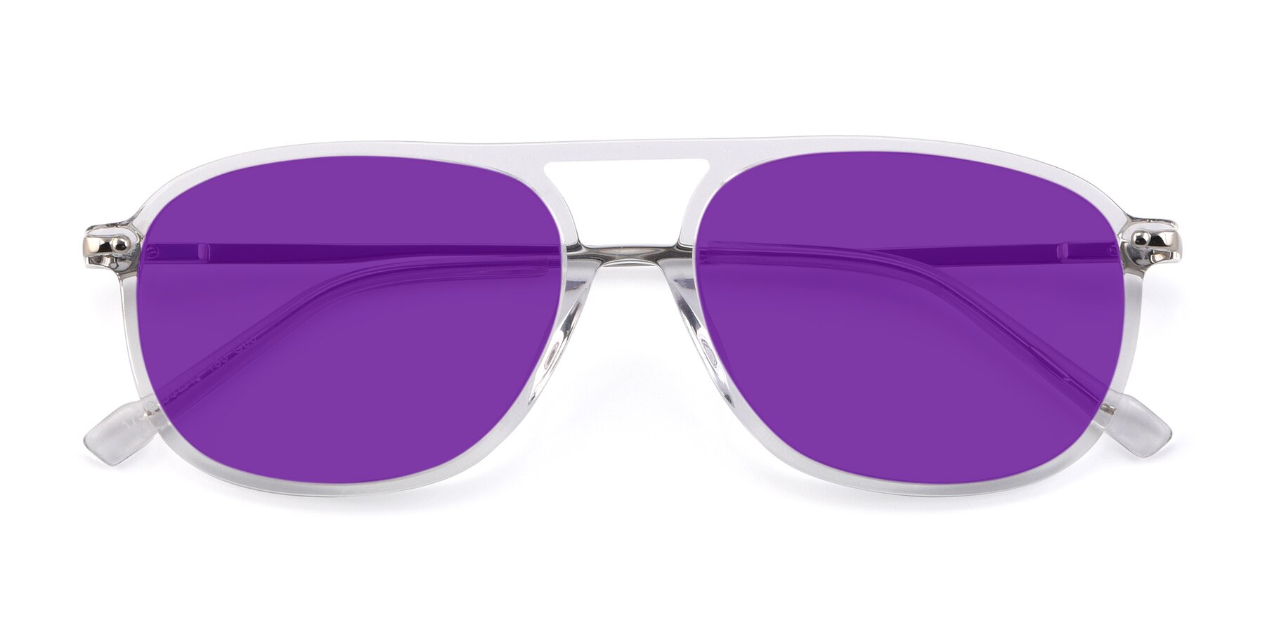 Folded Front of 17580 in Clear with Purple Tinted Lenses
