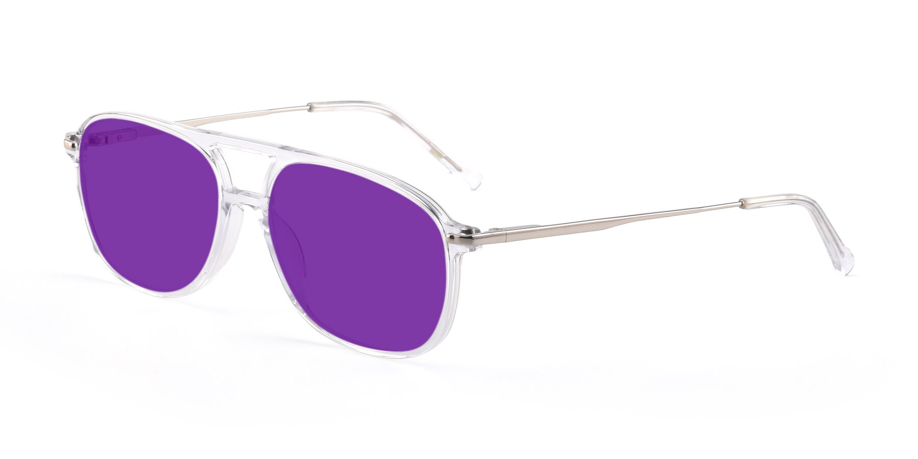 Angle of 17580 in Clear with Purple Tinted Lenses
