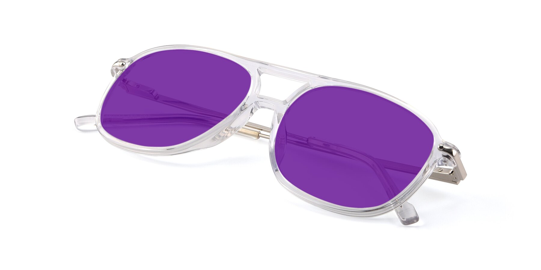 View of 17580 in Clear with Purple Tinted Lenses