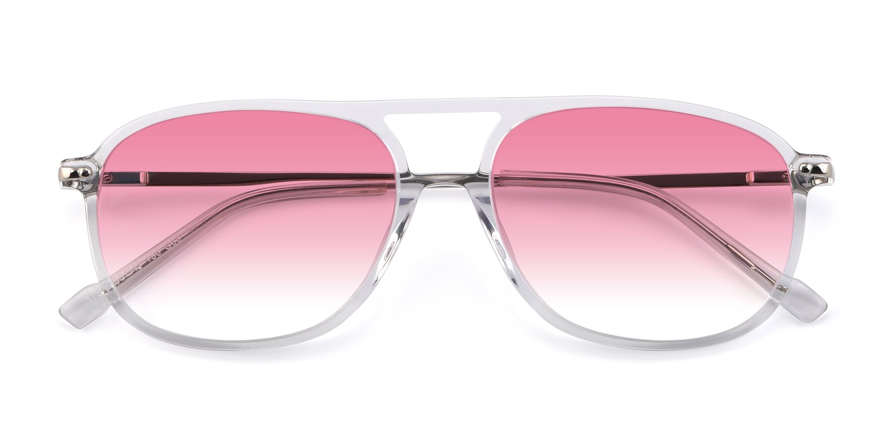 Folded Front of 17580 in Clear with Pink Gradient Lenses