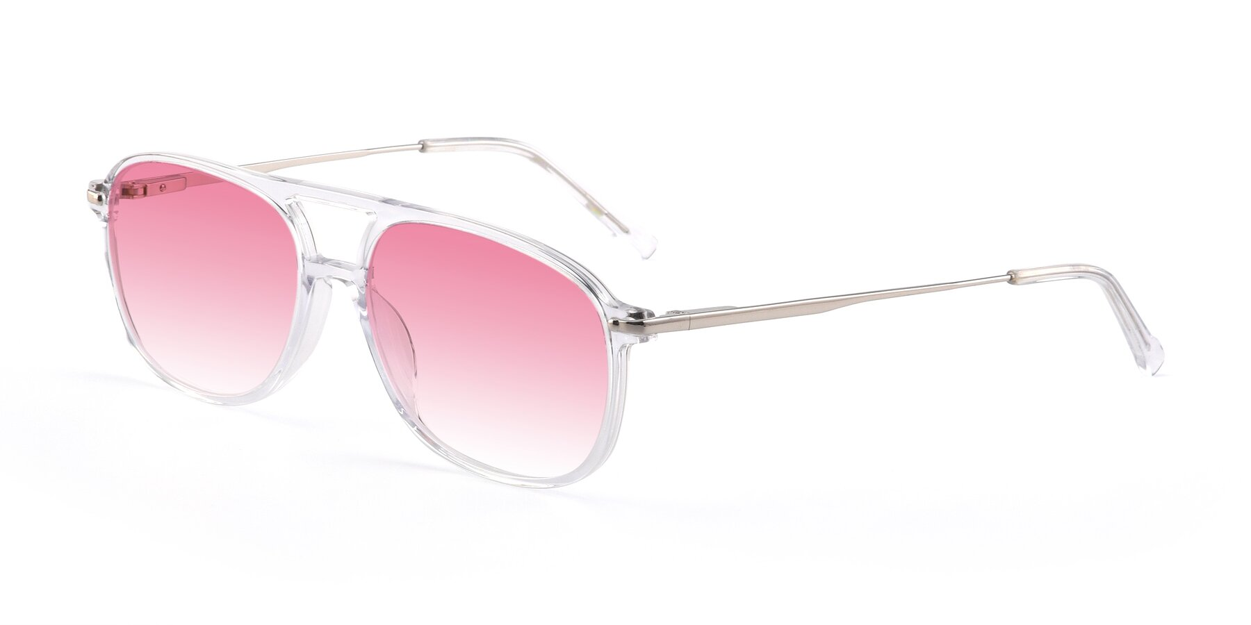 Angle of 17580 in Clear with Pink Gradient Lenses