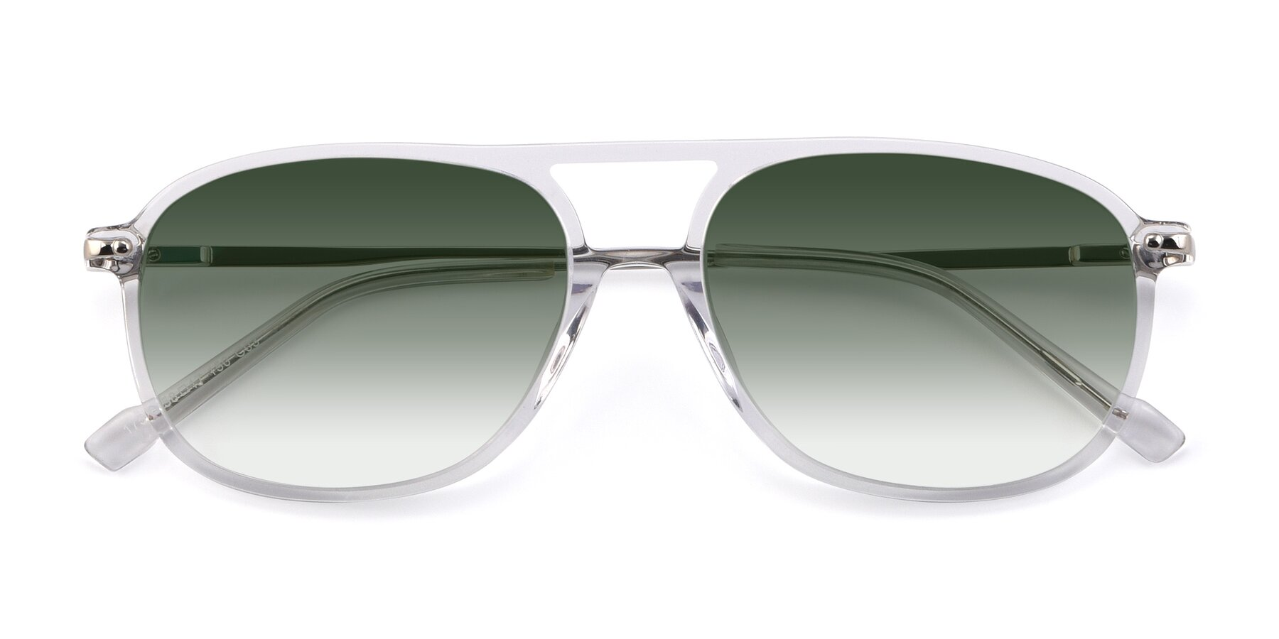 Folded Front of 17580 in Clear with Green Gradient Lenses