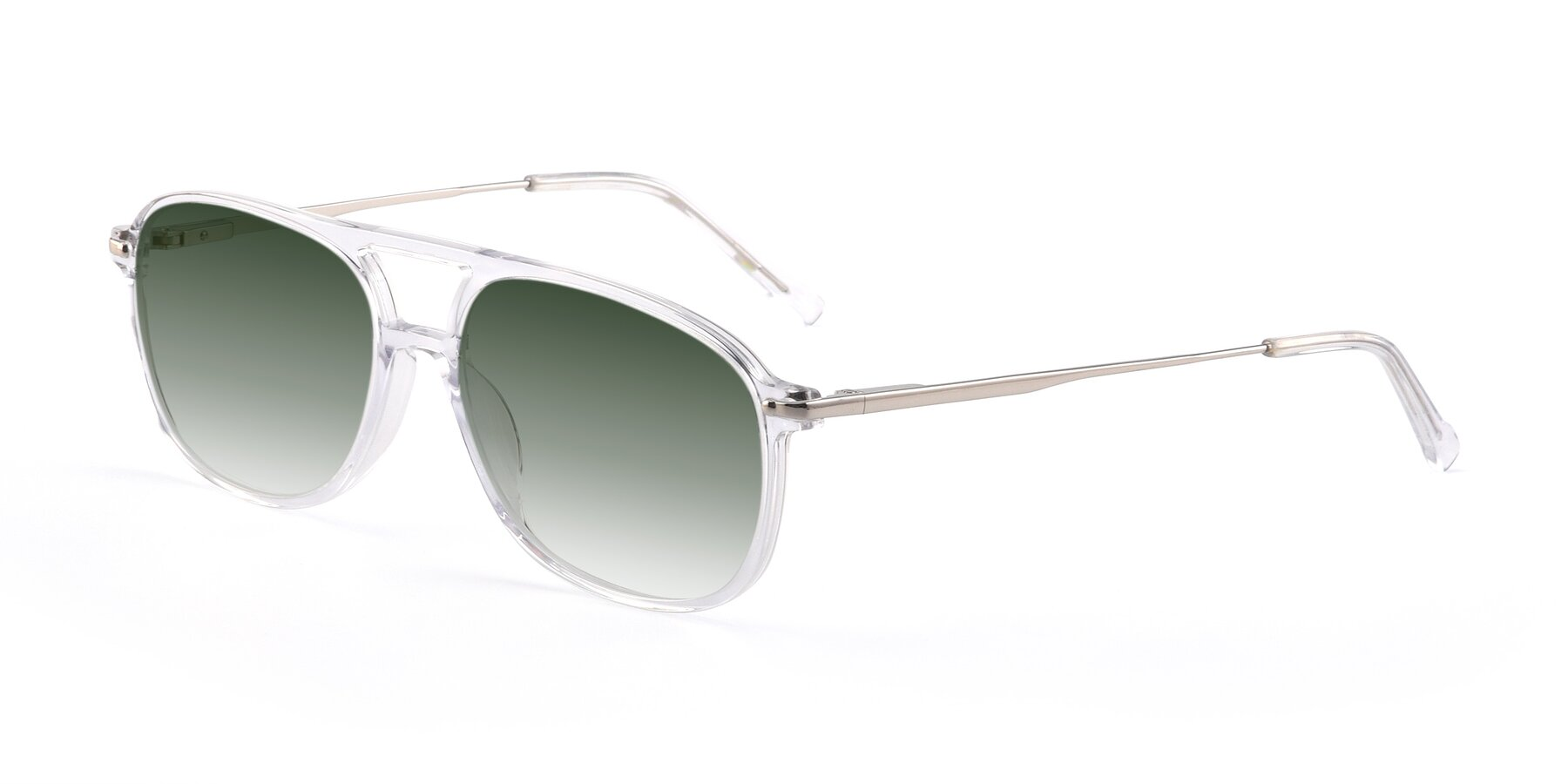 Angle of 17580 in Clear with Green Gradient Lenses