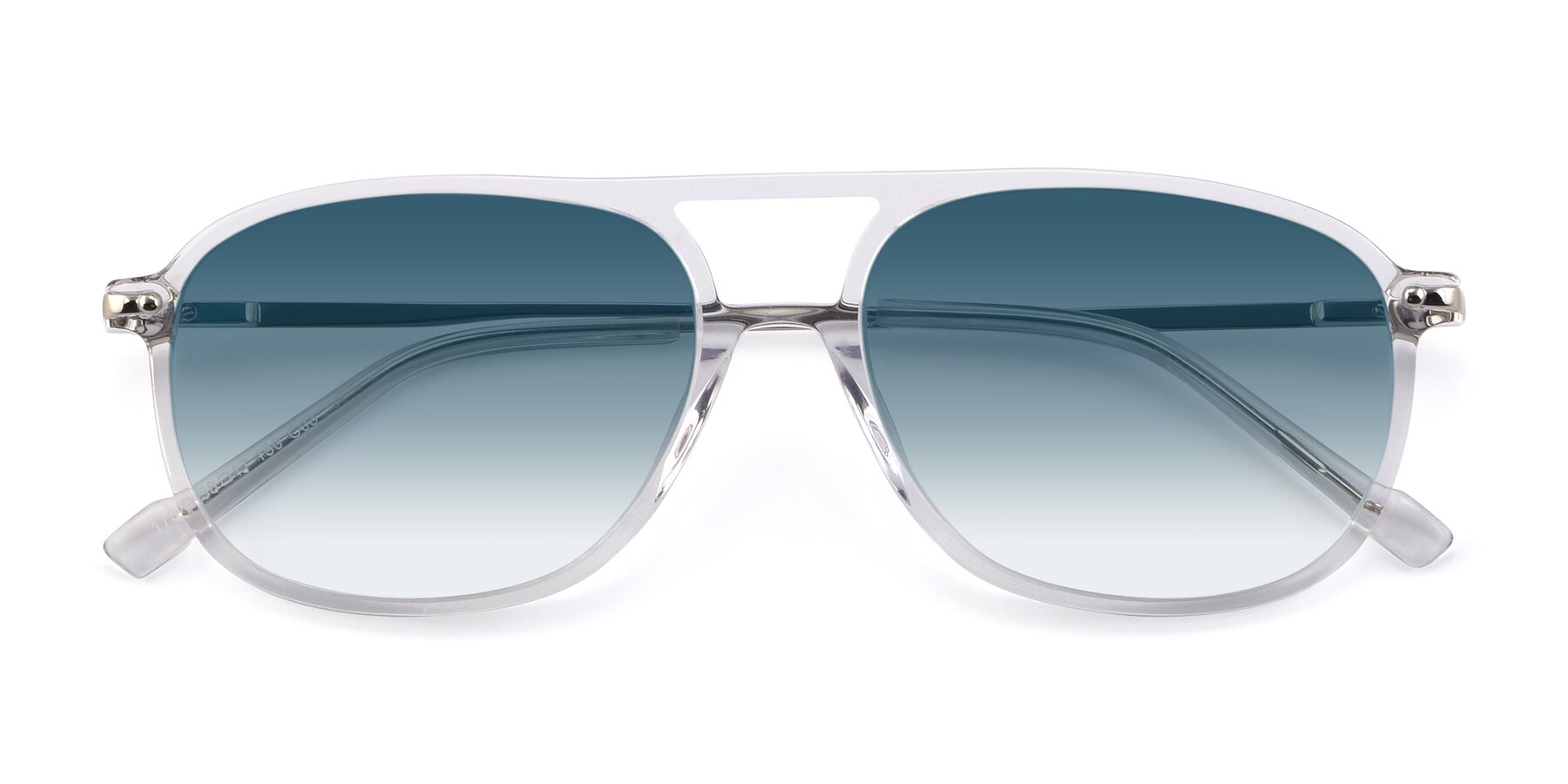 Folded Front of 17580 in Clear with Blue Gradient Lenses