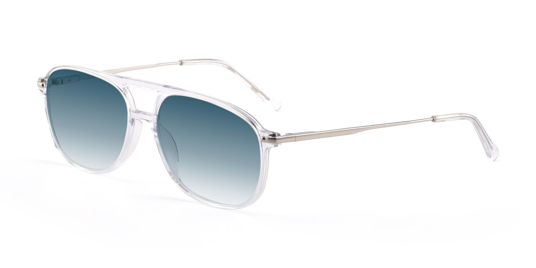 Angle of 17580 in Clear with Blue Gradient Lenses