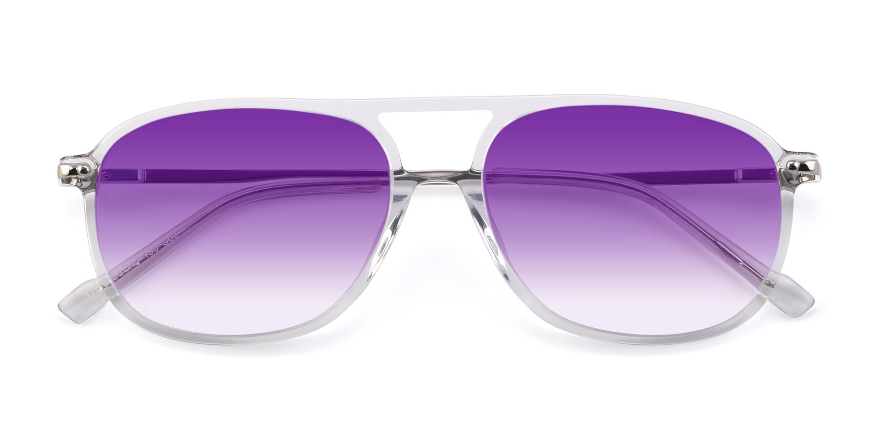 Folded Front of 17580 in Clear with Purple Gradient Lenses