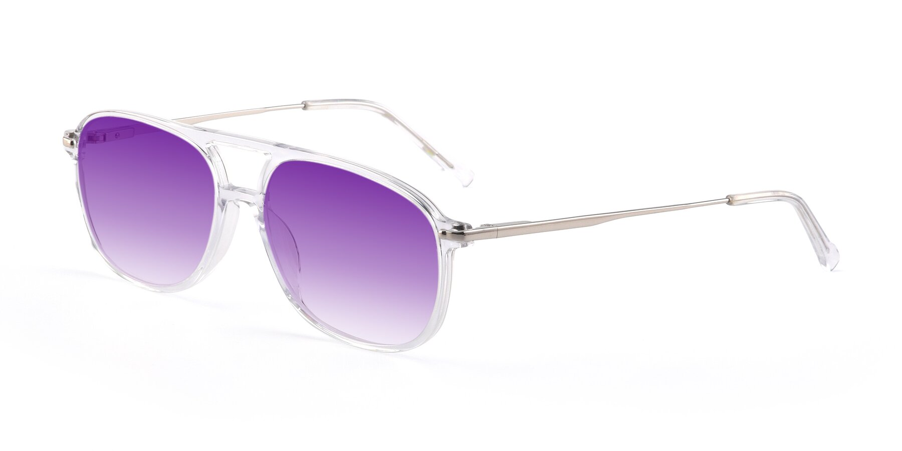 Angle of 17580 in Clear with Purple Gradient Lenses