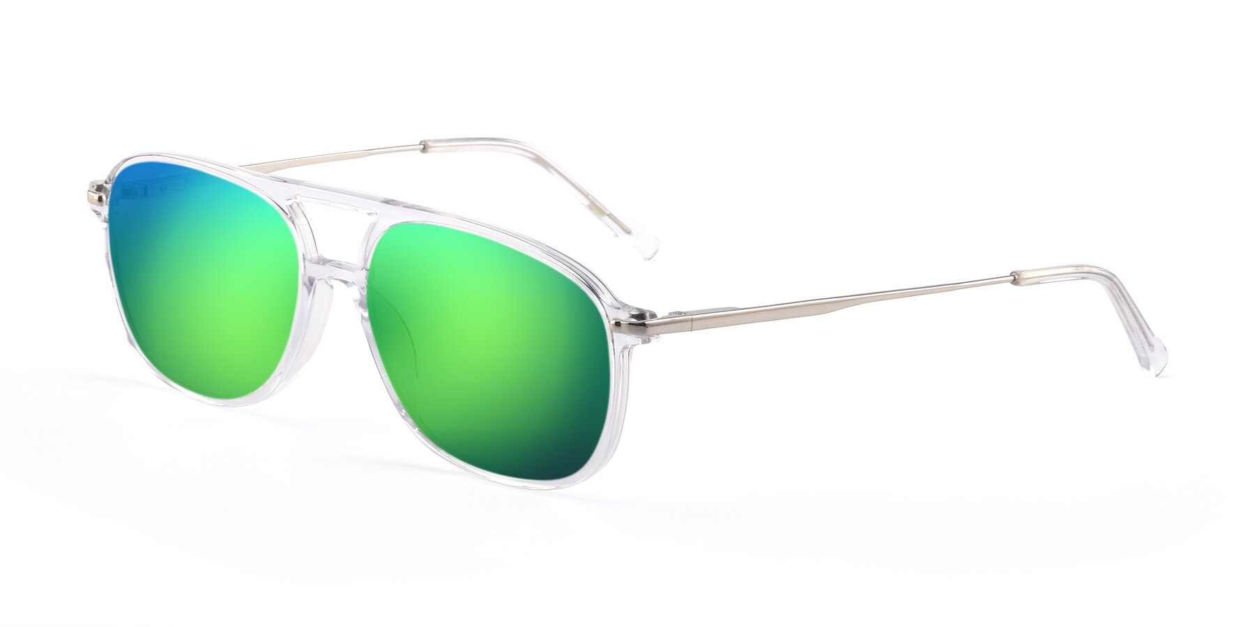 Angle of 17580 in Clear with Green Mirrored Lenses