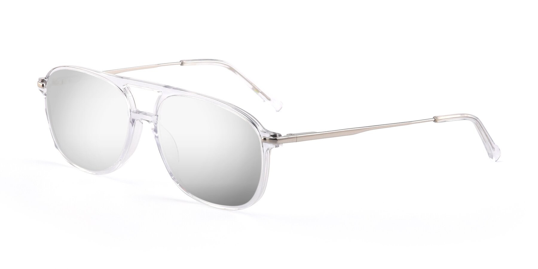 Angle of 17580 in Clear with Silver Mirrored Lenses