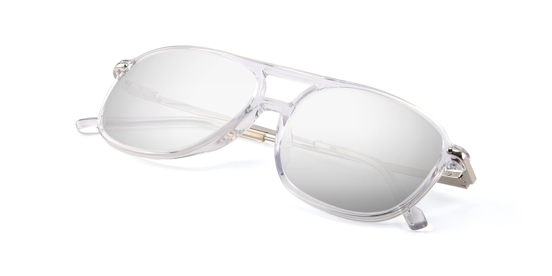 View of 17580 in Clear with Silver Mirrored Lenses