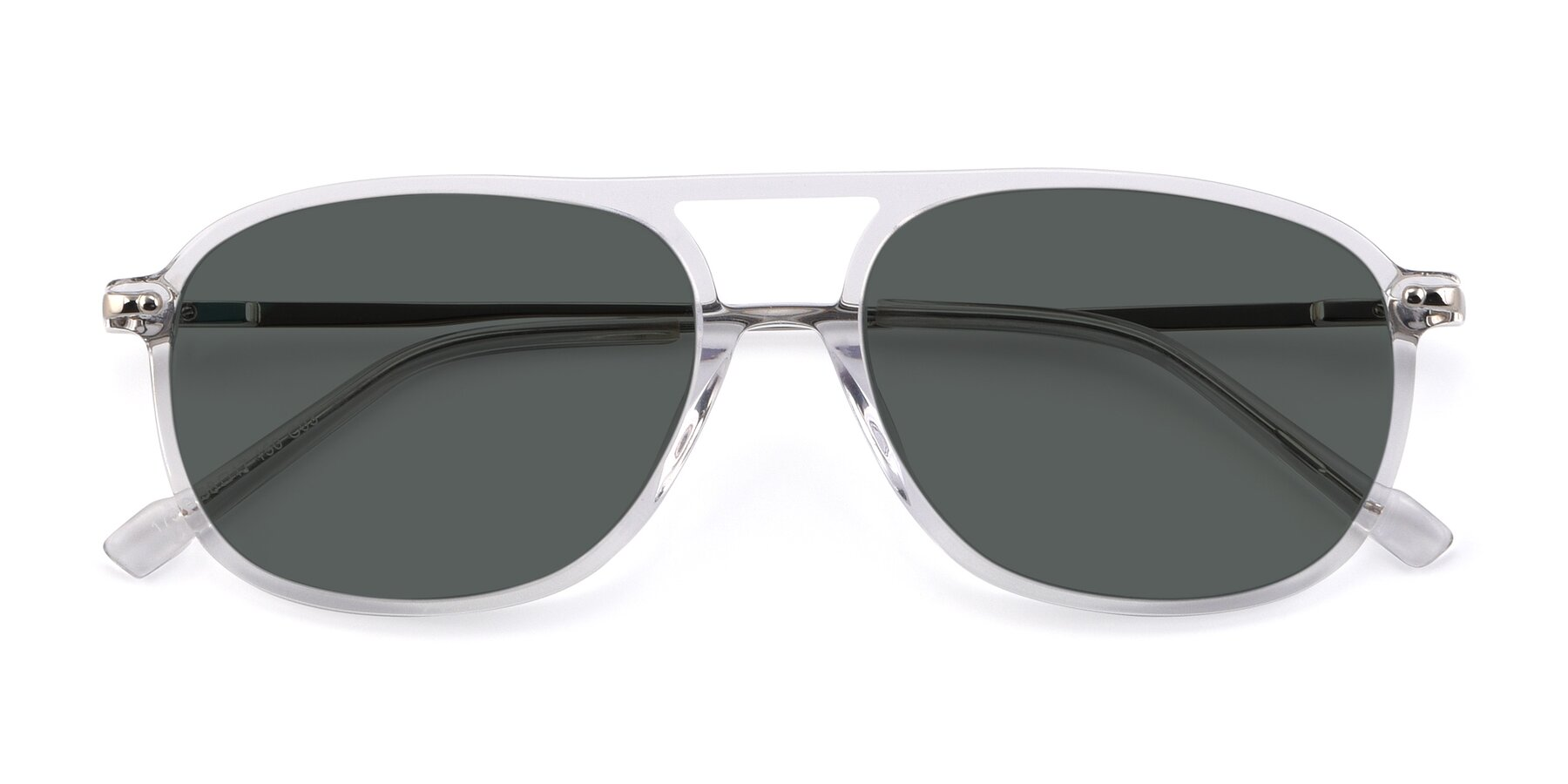 Folded Front of 17580 in Clear with Gray Polarized Lenses