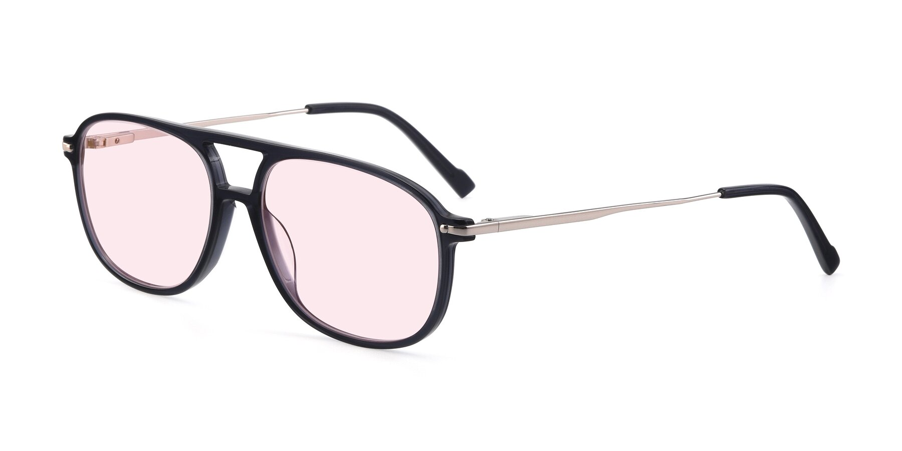 Angle of 17580 in Dark Bluish Gray with Light Pink Tinted Lenses