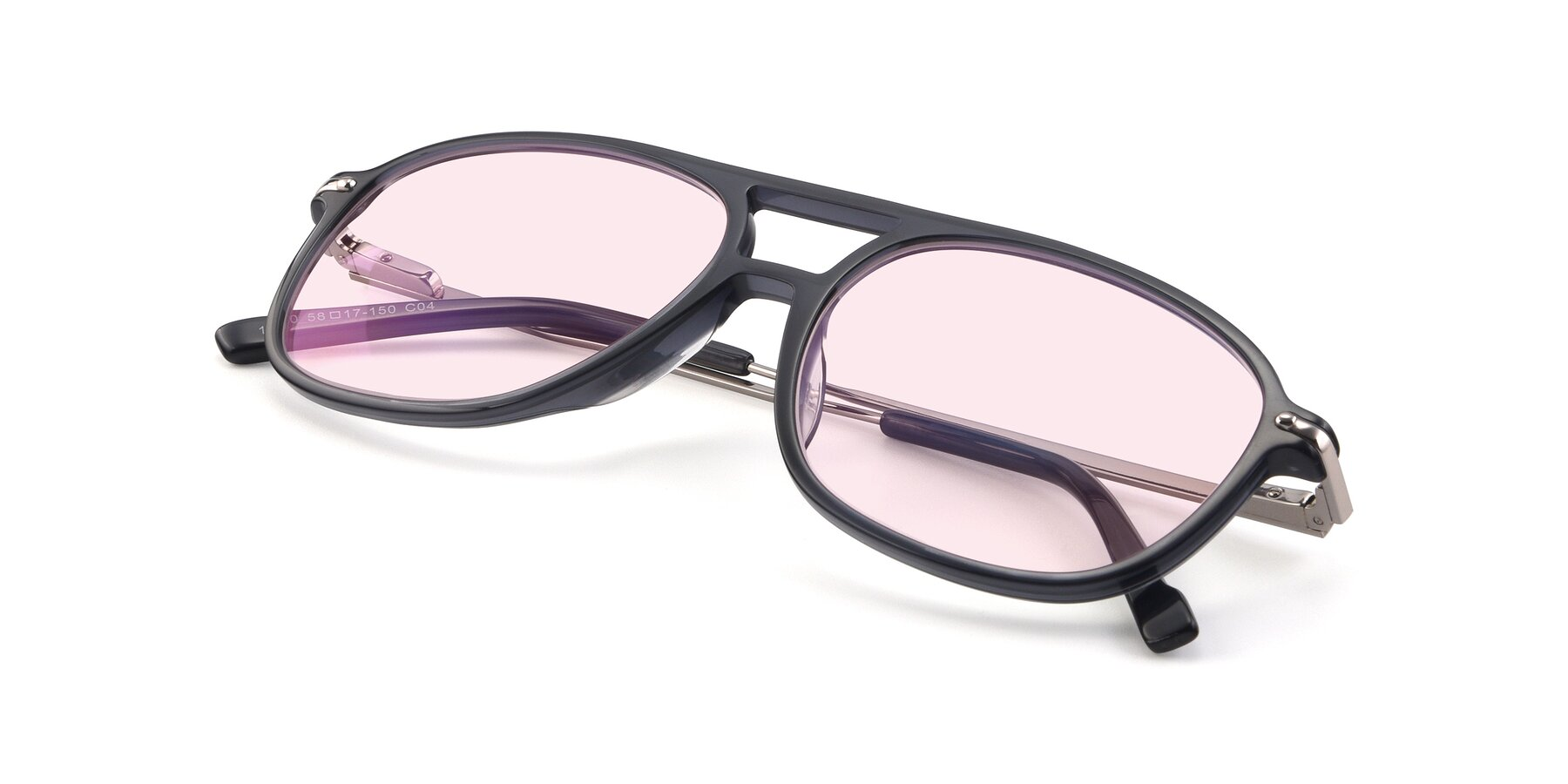 View of 17580 in Dark Bluish Gray with Light Pink Tinted Lenses