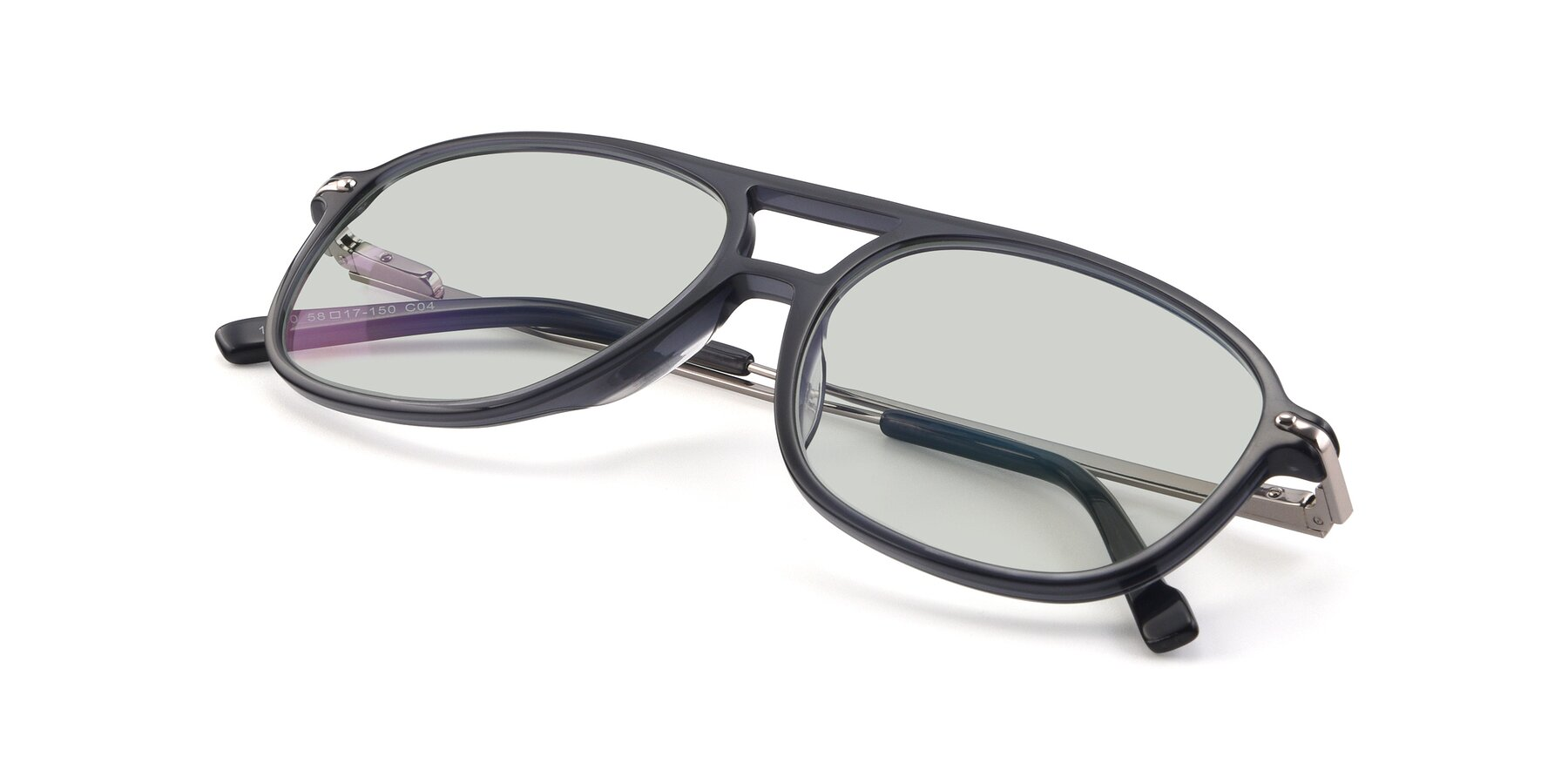 View of 17580 in Dark Bluish Gray with Light Green Tinted Lenses