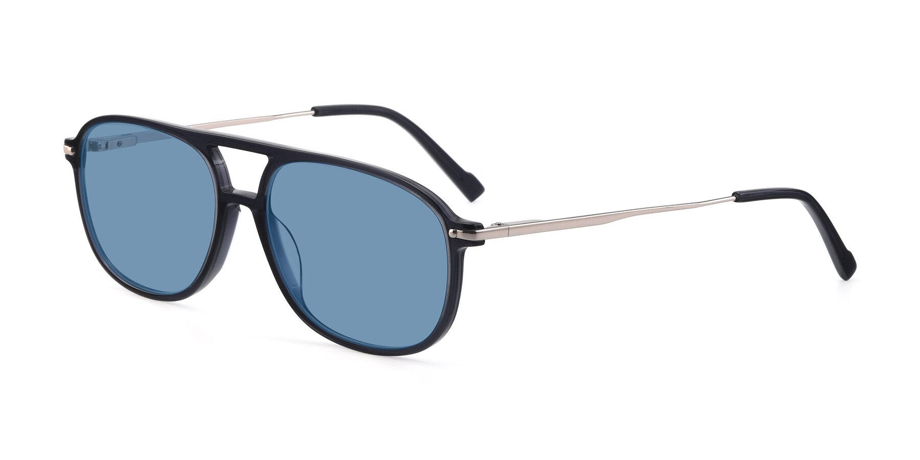 Angle of 17580 in Dark Bluish Gray with Medium Blue Tinted Lenses