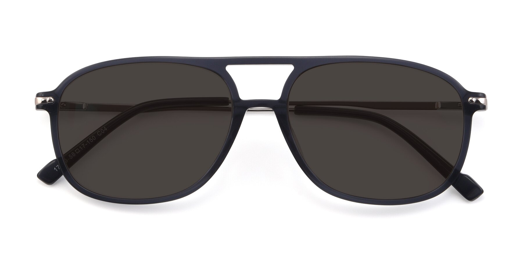 Folded Front of 17580 in Dark Bluish Gray with Gray Tinted Lenses