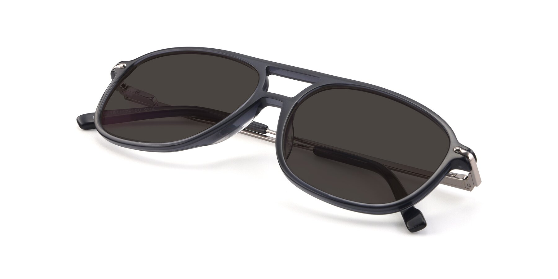 View of 17580 in Dark Bluish Gray with Gray Tinted Lenses