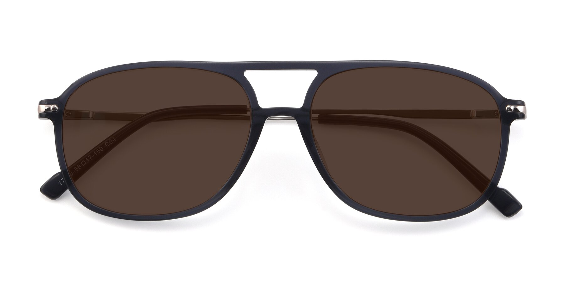 Folded Front of 17580 in Dark Bluish Gray with Brown Tinted Lenses