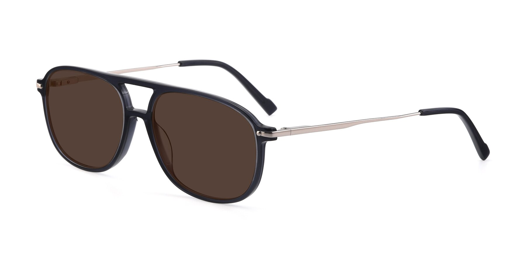 Angle of 17580 in Dark Bluish Gray with Brown Tinted Lenses