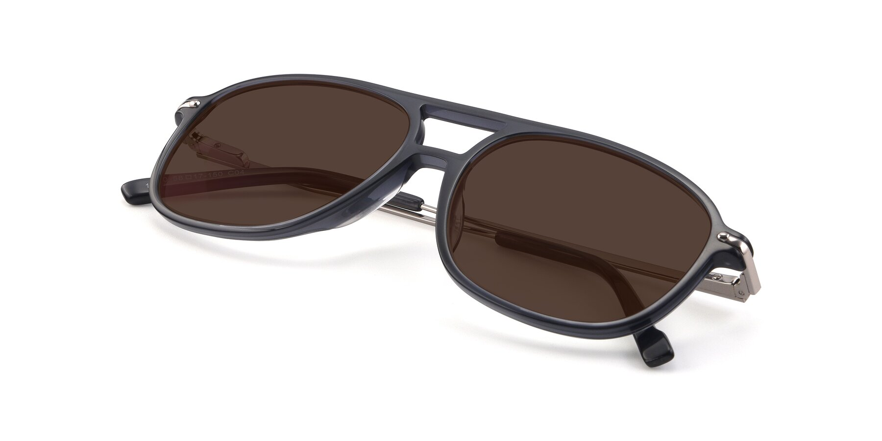 View of 17580 in Dark Bluish Gray with Brown Tinted Lenses
