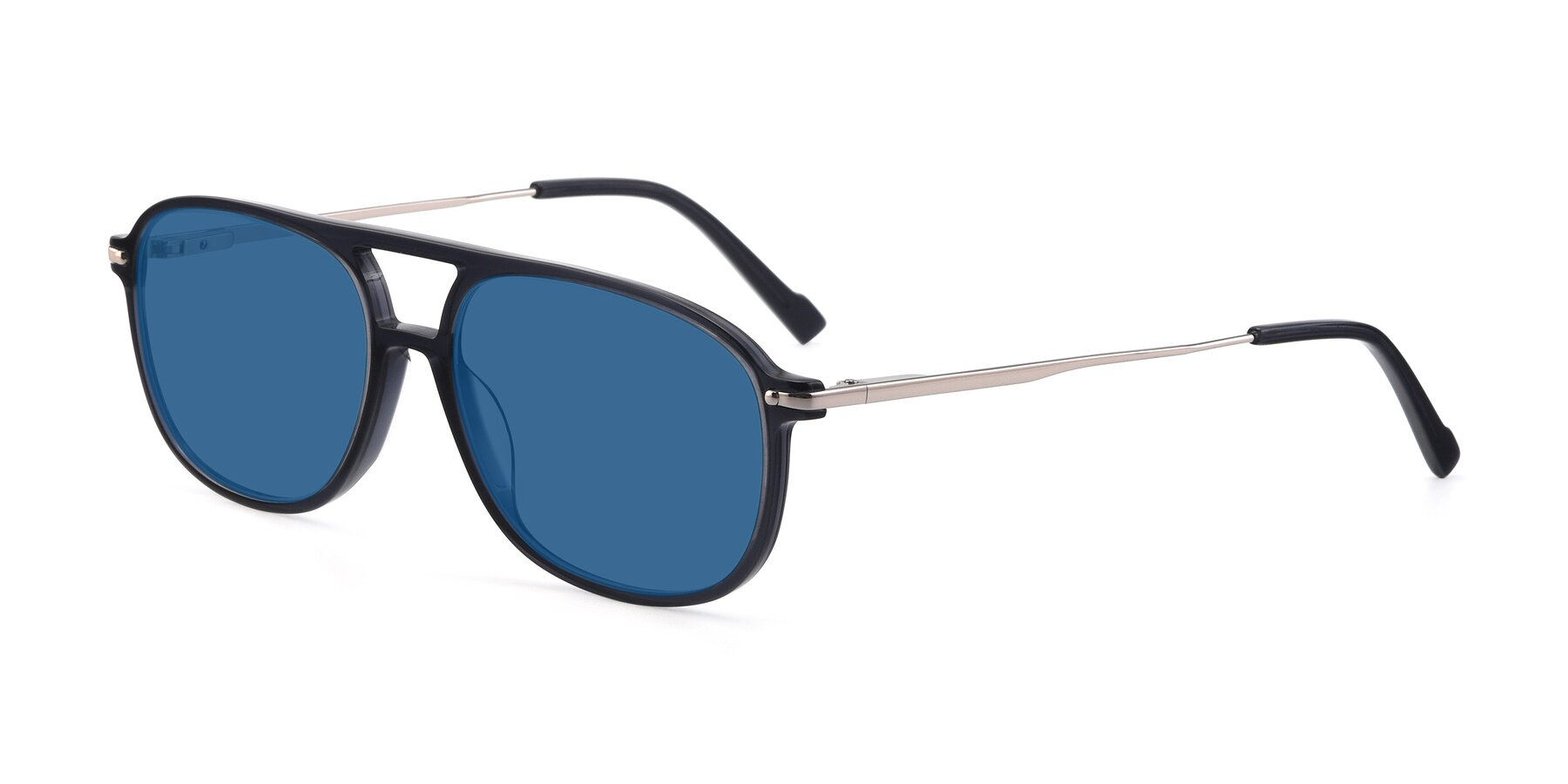 Angle of 17580 in Dark Bluish Gray with Blue Tinted Lenses