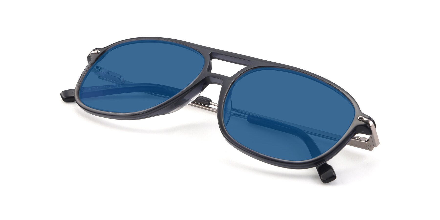 View of 17580 in Dark Bluish Gray with Blue Tinted Lenses