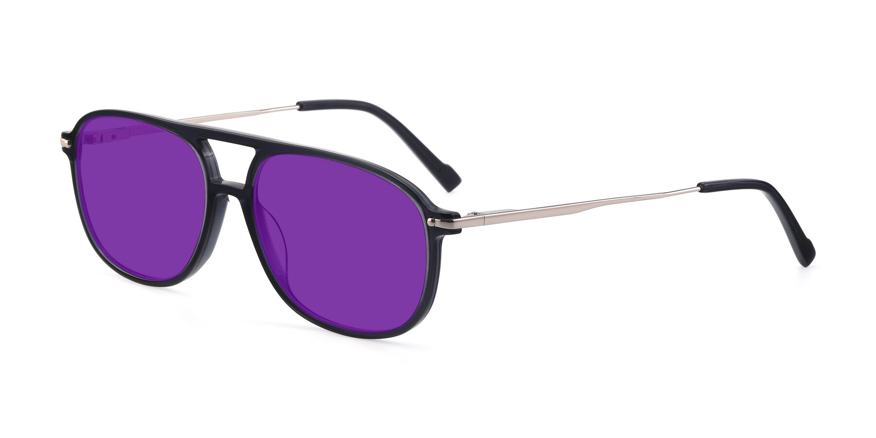 Angle of 17580 in Dark Bluish Gray with Purple Tinted Lenses