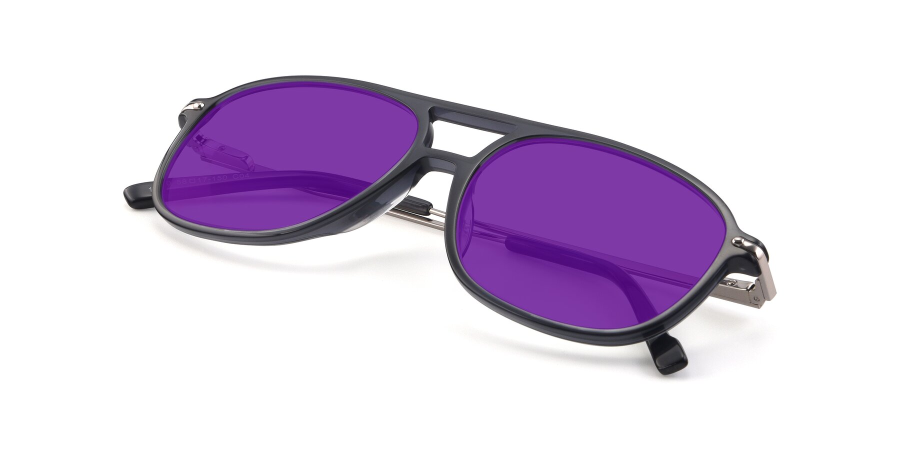 View of 17580 in Dark Bluish Gray with Purple Tinted Lenses