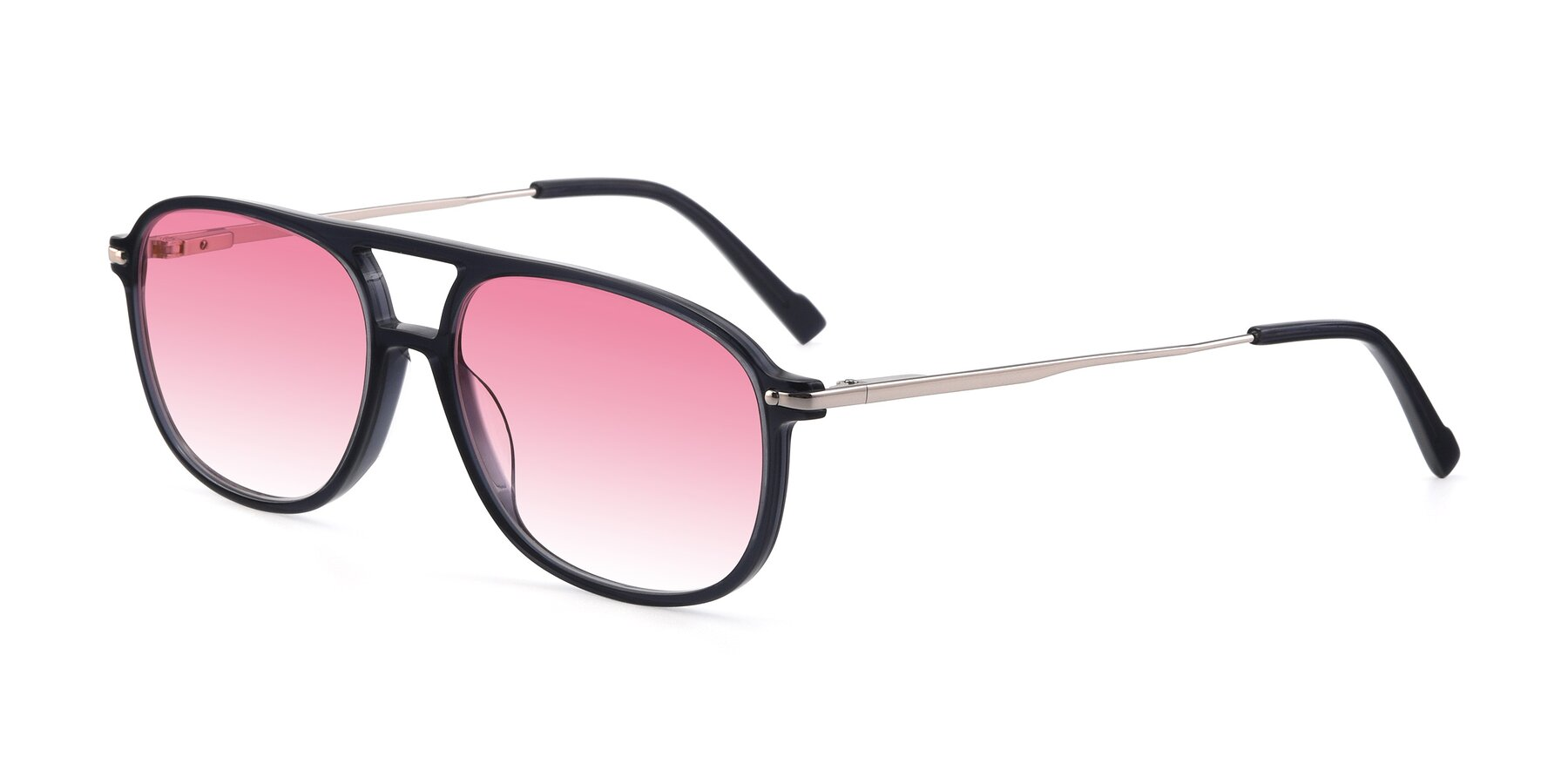 Angle of 17580 in Dark Bluish Gray with Pink Gradient Lenses