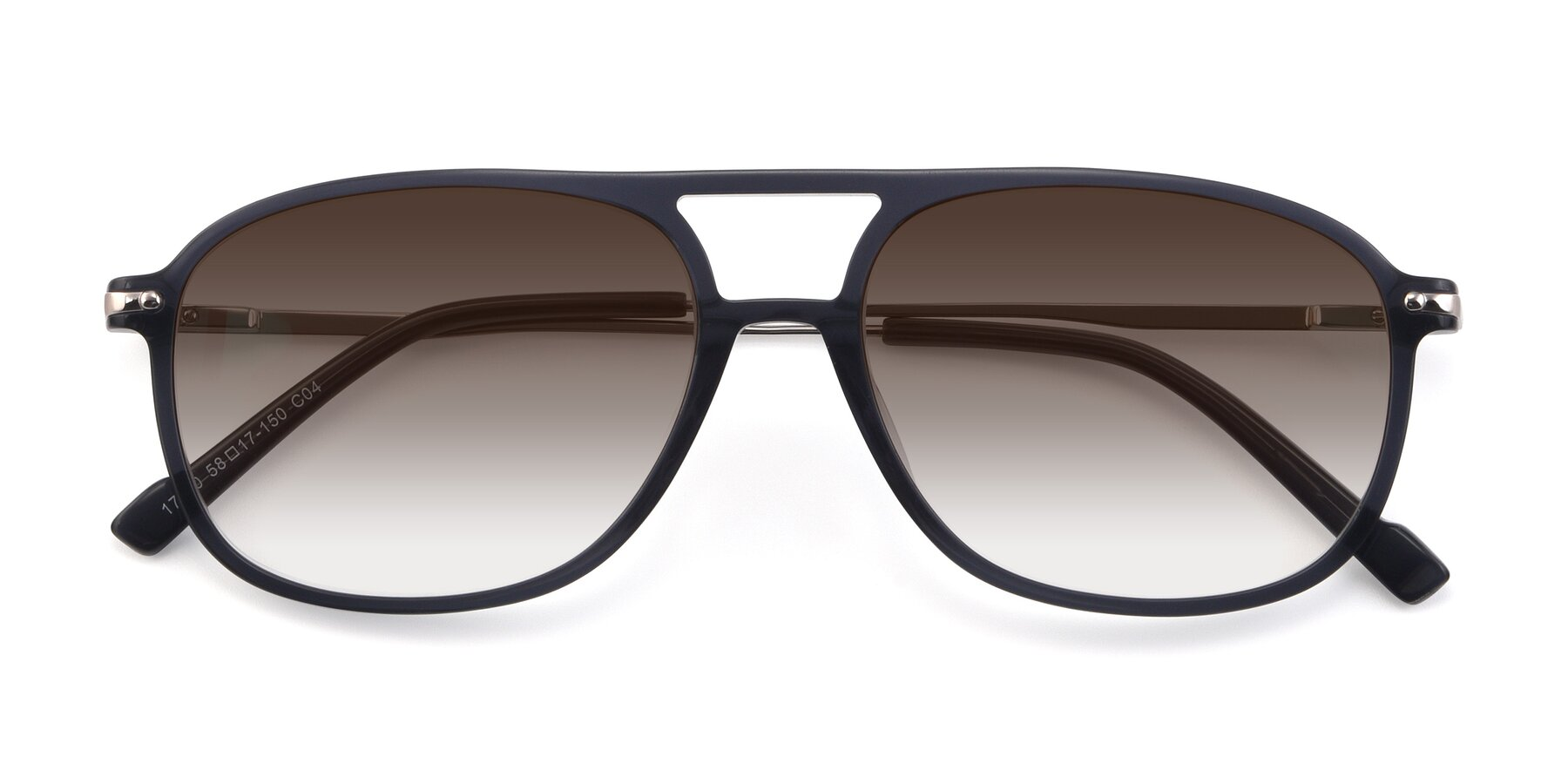 Folded Front of 17580 in Dark Bluish Gray with Brown Gradient Lenses