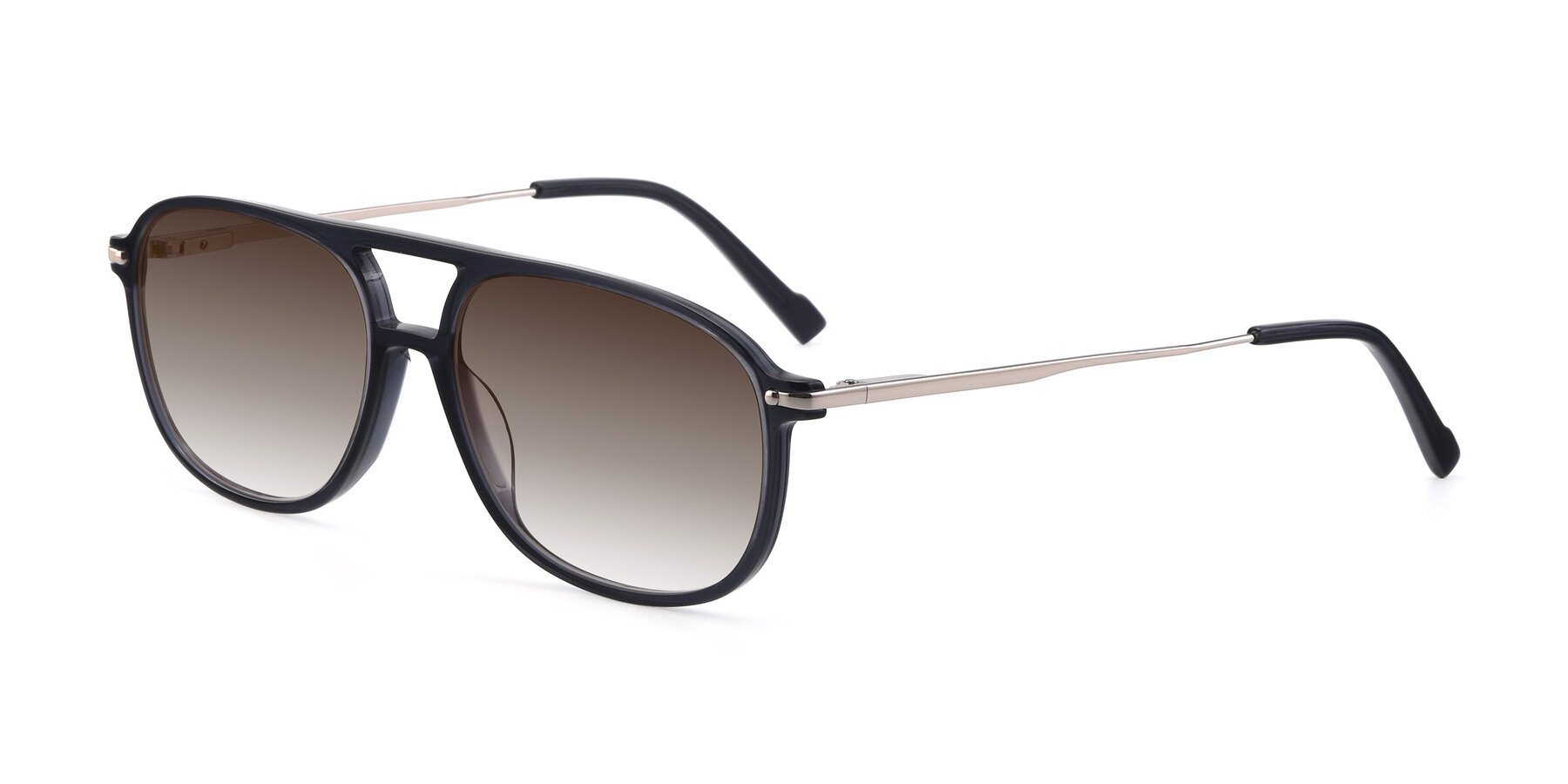 Angle of 17580 in Dark Bluish Gray with Brown Gradient Lenses
