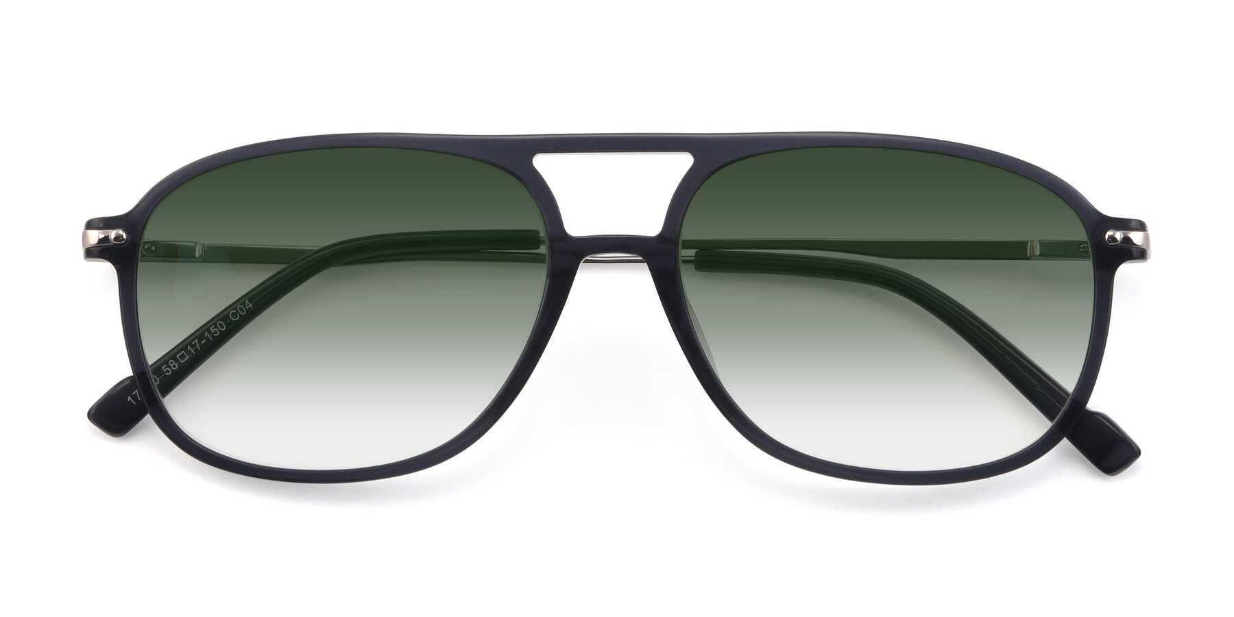 Folded Front of 17580 in Dark Bluish Gray with Green Gradient Lenses