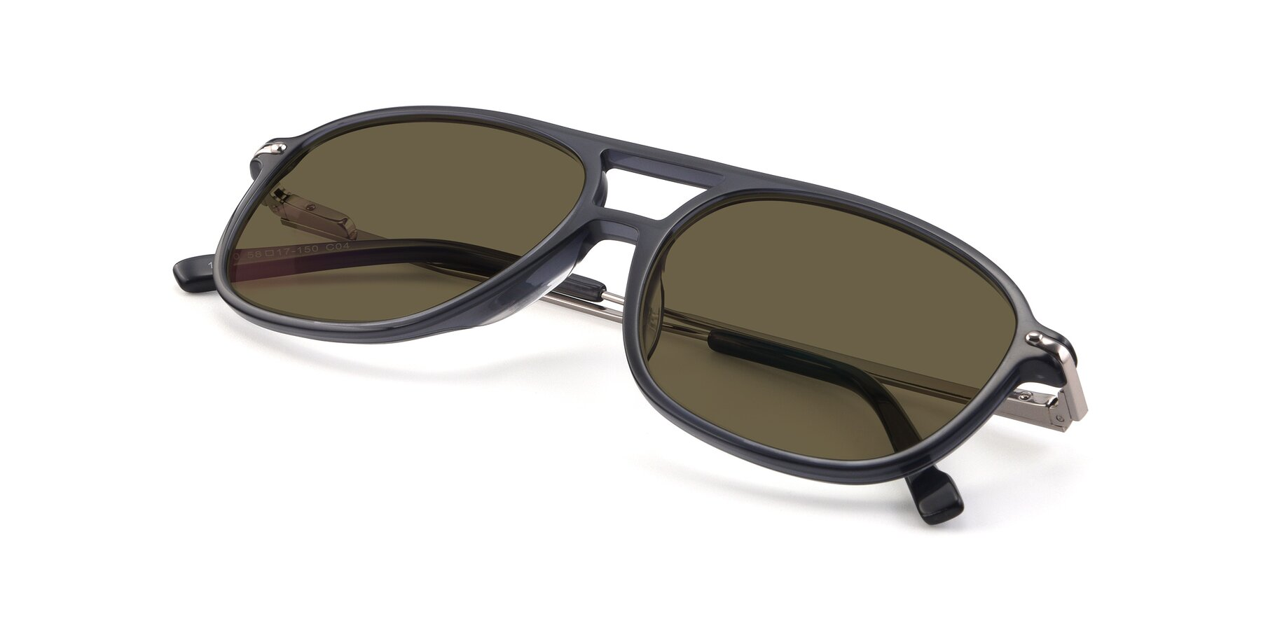 View of 17580 in Dark Bluish Gray with Brown Polarized Lenses