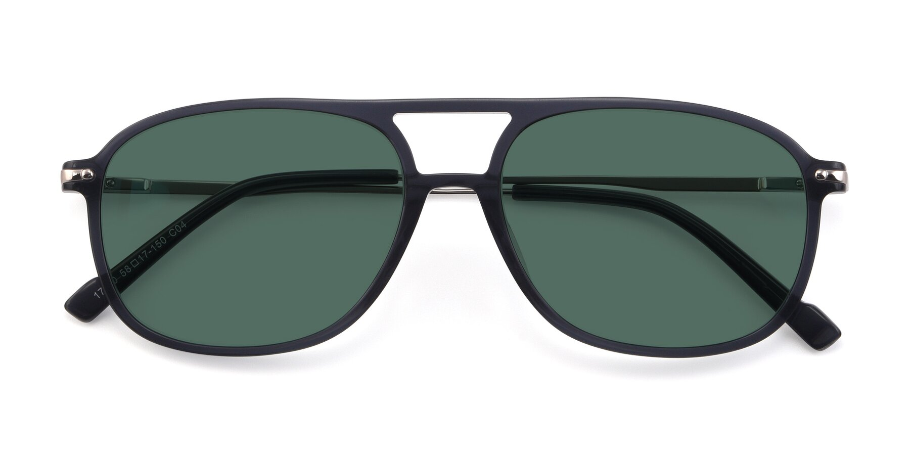 Folded Front of 17580 in Dark Bluish Gray with Green Polarized Lenses