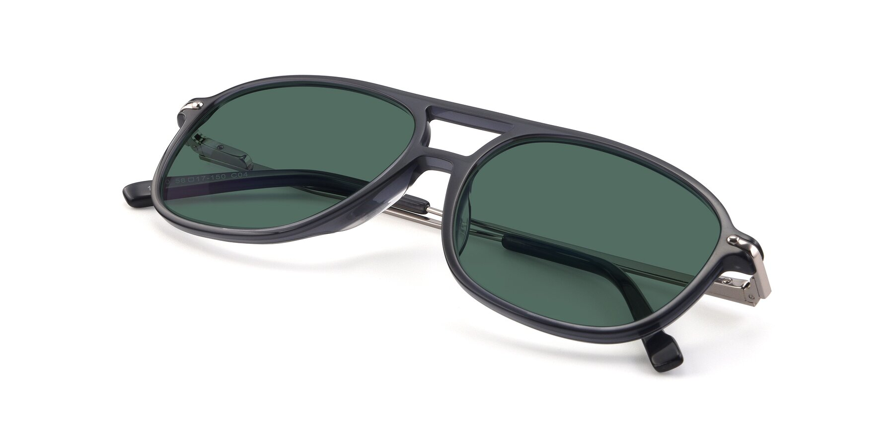 View of 17580 in Dark Bluish Gray with Green Polarized Lenses