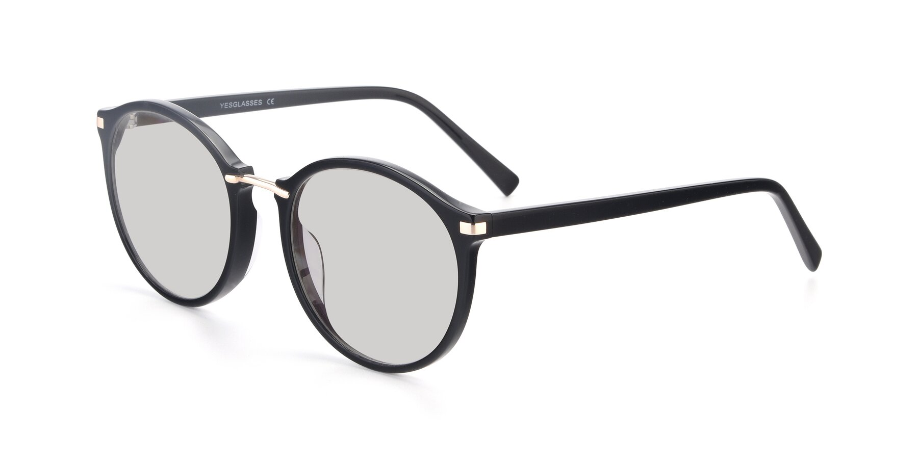 Angle of 17582 in Black with Light Gray Tinted Lenses