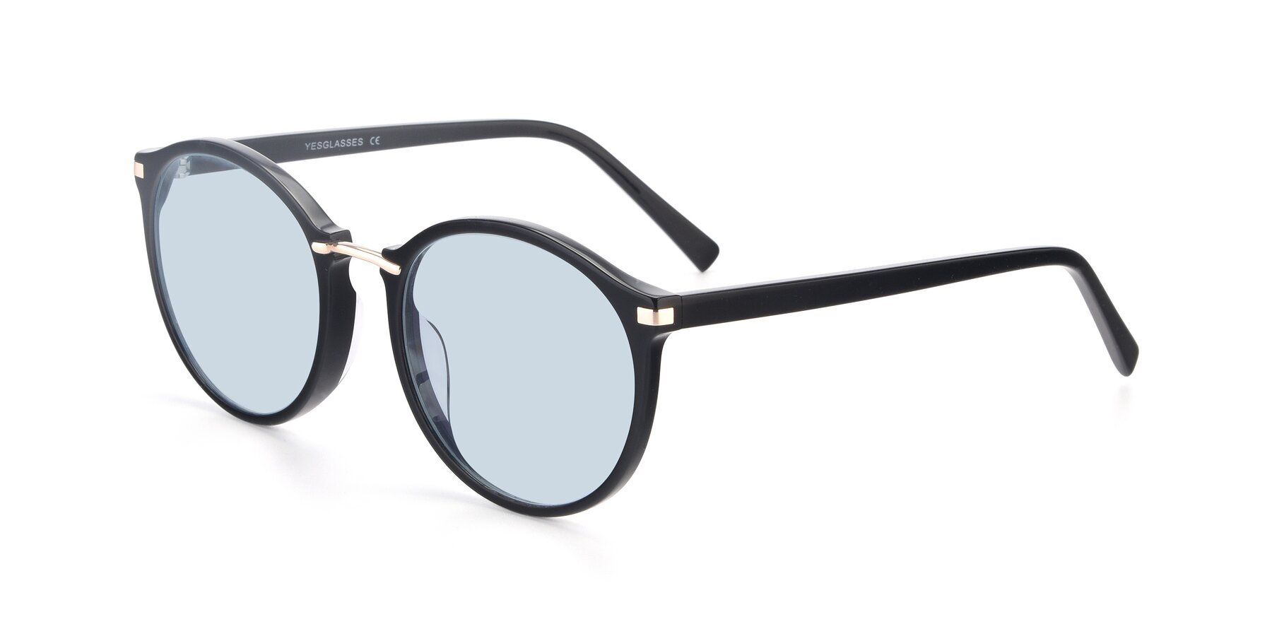 Angle of 17582 in Black with Light Blue Tinted Lenses