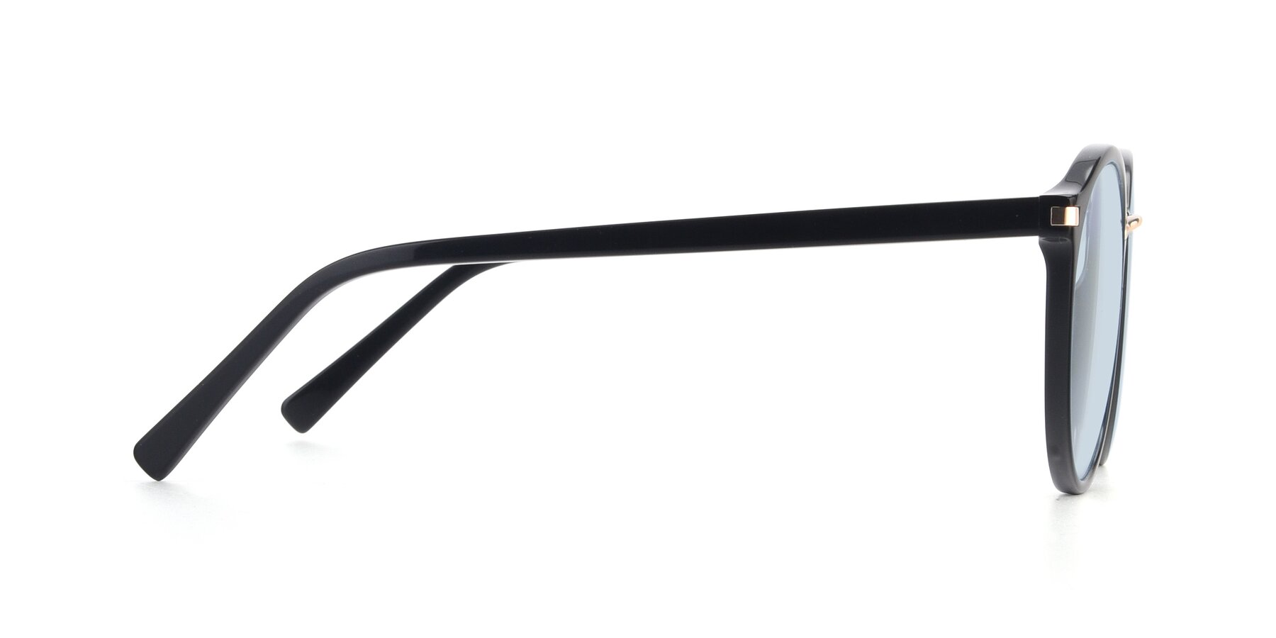 Side of 17582 in Black with Light Blue Tinted Lenses