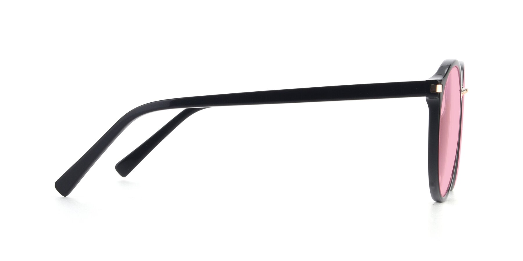 Side of 17582 in Black with Medium Pink Tinted Lenses
