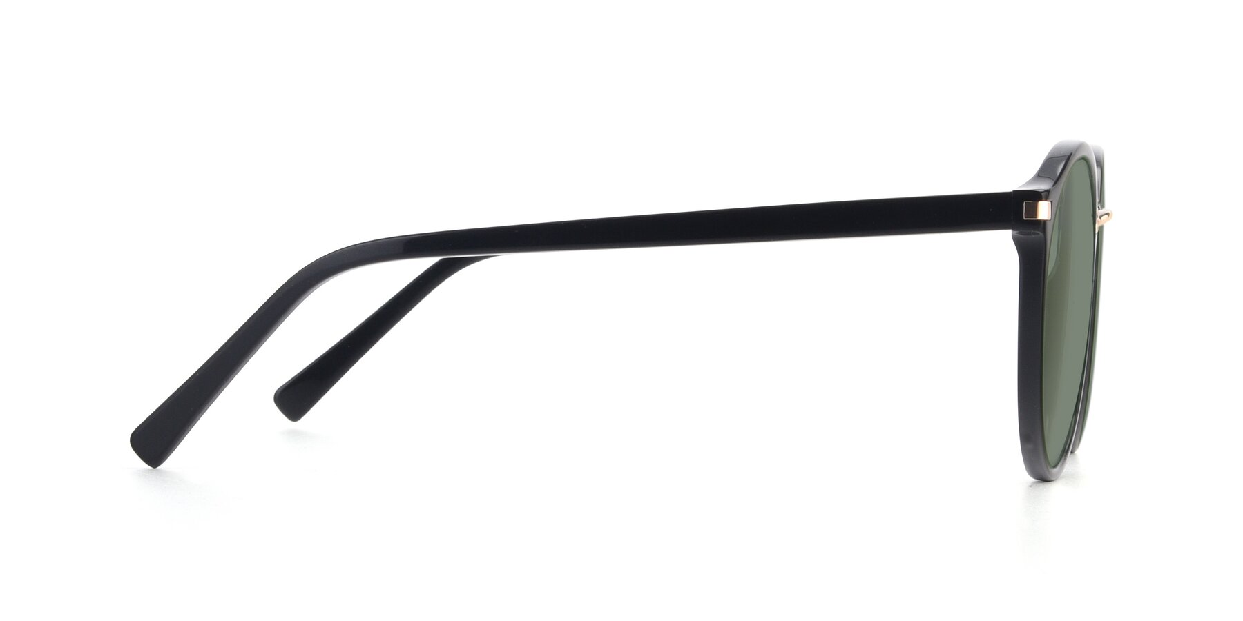 Side of 17582 in Black with Medium Green Tinted Lenses