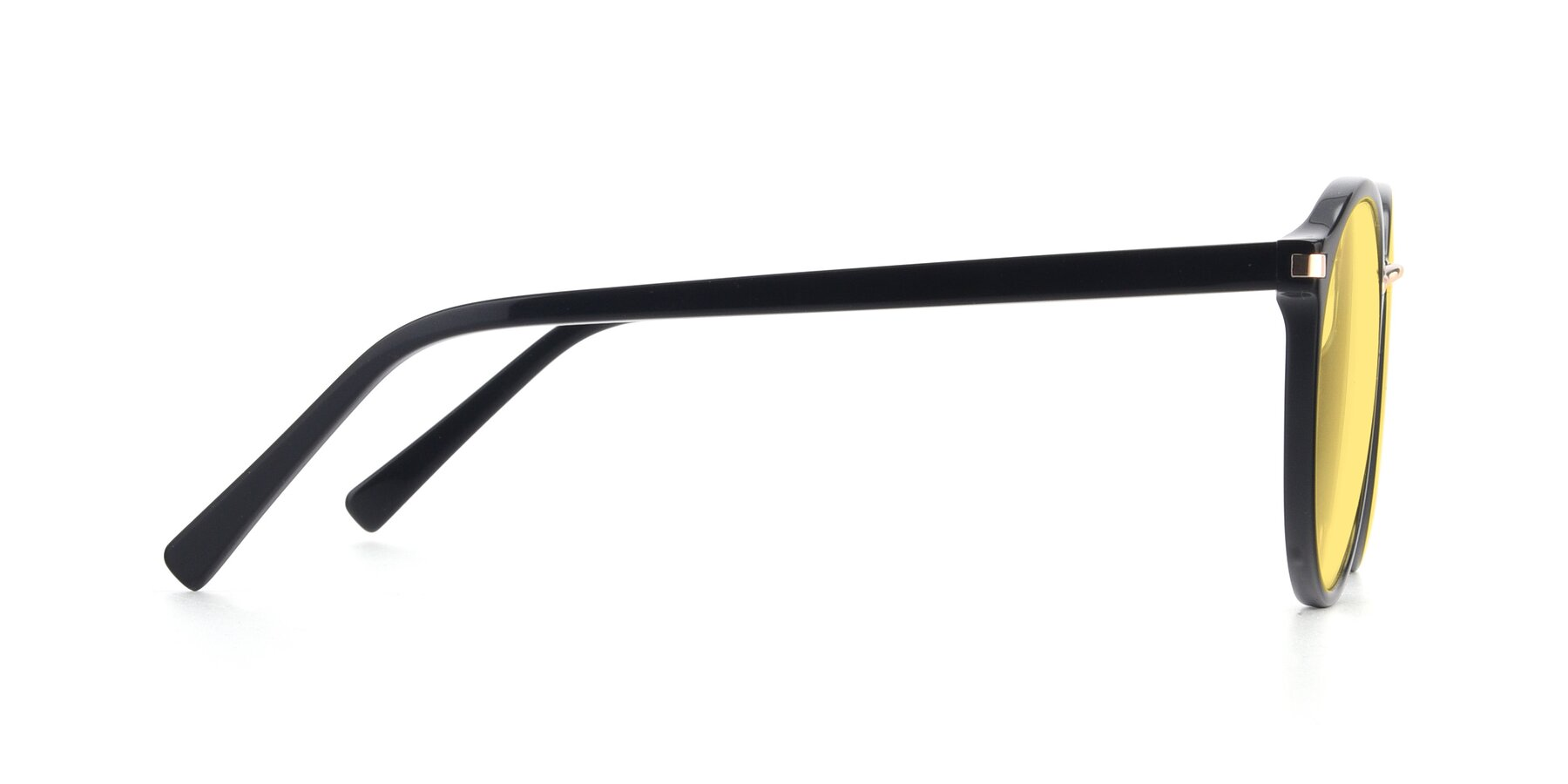 Side of 17582 in Black with Medium Yellow Tinted Lenses